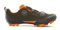 Fizik X5 Terra Suede Military Orange Fluo Cycling Footwear, Green, Size 43