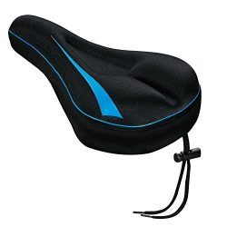 XwerX Components Gel Bike Seat Cover – Comfortable Bike Seat Cushion Soft Saddle Cover for ...