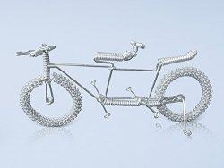 Unique Metal Crafts Gift Art Road Tandem LOVE Bike Model Wedding Christmas Tree Ornaments Decora ...
