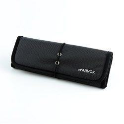 Arvok Roll-up Electronics Organizer Travel Universal Accessories Carry Bag Kit/Portable Gear Pou ...