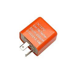 2 Pin 12V Orange Electronic Motorcycle LED Turn Signal light Flasher Relay Speed Adjustable Indi ...
