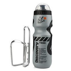 Witspace Outdoor Bicycle 650ML Water Bottle With Holder Cage Racks Cycling Bike Kit (Gray)