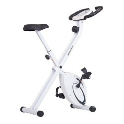 Folding Upright Exercise Stationary Bike with Heart Rate XRB358, Contour Comfortable Seat, Exten ...