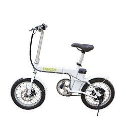 NAKTO 220W 16″ Folding Electric Bike Collapsible Electric Commuter Bike Ebike With 36V 6Ah ...