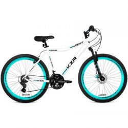 26″ Women's Kent KZR Mountain Bike, White/Teal, 21-speed Shimano drivetrain (White/Teal)