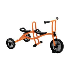 Constructive Playthings WIN-554 Trike for Two Tricycle for two Children, kindergarten Grade to 3 ...