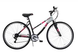 Spratly Brands Women's Cross Train Fitness Bike 700c – White/Pink
