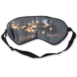 100% Silk Sleep Mask Eye Mask Bike Seat- Sunset Soft Eyeshade Blindfold With Adjustable Strap Fo ...