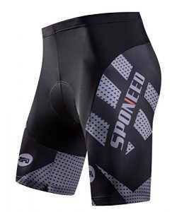 sponeed Men's Bike Shorts Padded Race Fit Bicycle Bottoms Not Baggy Cycling Short Racing F ...