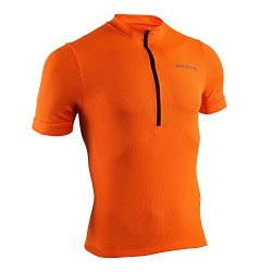 Spotti Men's Basic Short Sleeve Cycling Jersey – Bike Biking Shirt (Orange, Medium)