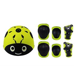 Lucky-M Kids 7 Pieces Outdoor Sports Protective Gear Set Boys and Girls Cycling Helmet Safety Pa ...