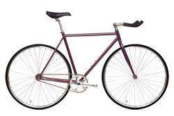 State Bicycle Fixed Gear/Single Speed Bike Bullhorn, 55cm/Medium, Nightshade
