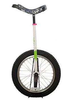 Koxx Fluo 20 Trials Unicycle, White and Green with Camo Seat, Silver Rims, White Pedals