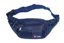 Toudorp Fanny Pack 4 Pockets Waist / Bum Bag 26 – 44 inches Adjustable Belt for Men and Wo ...