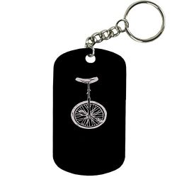Personalized Engraved Custom Unicycle 2-inch Colored Anodized Aluminum Customizable Keychain Dog ...