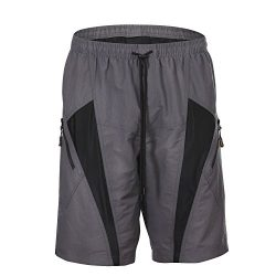 HAMSWAN Men's Loose-Fit Padded Breathable Bike Shorts for Cycling M