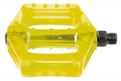 M-Wave Poly-C BMX/ATB 9/16 in Platform Pedal in Trans Yellow/Green