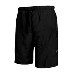 SANTIC Men's Cycling Shorts Loose-Fit 4D Padded Bike Bicycle MTB Mountain Bike Shorts, Bla ...