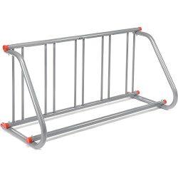61-5/8″L Grid Bike Rack, Single Sided, Powder Coated Galvanized Steel, 5-Bike Capacity