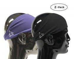 Value 2-Pack, Mens Headband – Guys Sweatband & Sports Headbands Moisture Wicking Worko ...