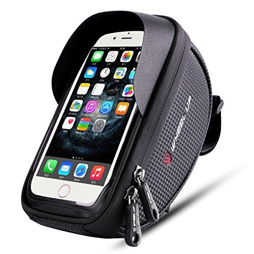 Wallfire Bike Phone Mount Bag, Bicycle Frame Bike Handlebar Bags with Waterproof Touch Screen Ph ...