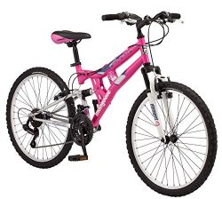 Mongoose Girls Exlipse Mountain Bike, 24″/One Size, Pink