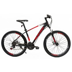 Uenjoy Murtisol 26'' 21 Speed Mountain Bike with Aluminum Frame Commuter Bike Hybrid Bicycle Fix ...