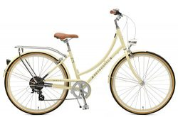 Retrospec Venus Dutch Step-Thru City Comfort Hybrid Bike, Cream, 7-Speed / 38cm, s/m