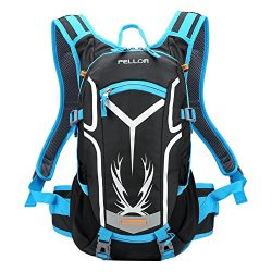 Pellor 18L Water-resistant Cycling Bike Shoulder Backpack Water Bag with Rain Cover for Outdoor  ...