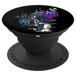 BMX Bike Skelton Calavera Riders Skull Cool – PopSockets Grip and Stand for Phones and Tablets