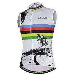 Aogda Cycling Vests Jerseys Women Bike Shirts Sleeveless Clothing Ladies Biking Shorts Bicycle T ...