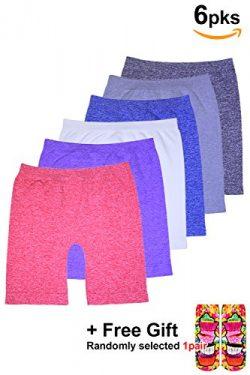 BASICO Girls Dance, Bike Shorts 6, 12 Value Packs – for Sports, Play Under Skirts (Little  ...