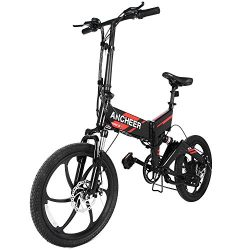 ANCHEER 2018 Waterproof Folding Electric Bike with Removable 36V 8Ah LG Battery, Foldable Electr ...