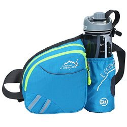 Sunhiker Outdoor Waist Bag, Sports Water Resistant Waist Pack with Water Bottle (Not Included) H ...