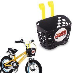 Mini-Factory Kid's Bike Basket, Cute Fire Truck Pattern Bicycle Handlebar Basket for Boy & ...