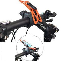 Bike Handlebar Phone Mount,Calmpal Universal ClipGrip Bike Phone Mount Cradle Compatible with al ...