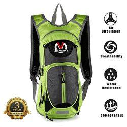 SAVADECK 15L Water-resistant Cycling Backpack Cycle Bike Shoulder Hydration Bladder Bag Biking R ...