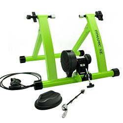 DYNAMIC SE Indoor Bike Trainer Indoor Eexercise Bicycle Magnetic Trainer Stand 6 Levels Magnetic ...