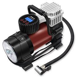 Digital Tire Inflator – GOOLOO Electric 12V DC 150 PSI Portable Auto Air Compressor Pump with Pr ...