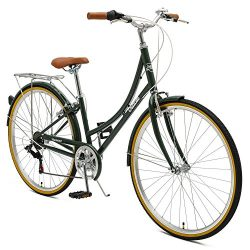 Critical Cycles Beaumont-7 Seven Speed Lady's Urban City Commuter Bike; 44cm, Olive, 44cm/ ...