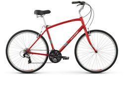 Raleigh Detour 2 Comfort Bike, 21″ /XL, Red, 21″ / X-Large