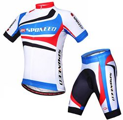 Sponeed Men's Bike Jerseys Shirts Padding Shorts Uniforms Bicycle Riding Road Cycle Wear X ...