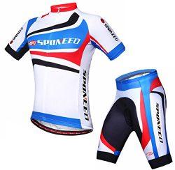 Sponeed Men's Biking Jersey Bike Sportswear Shorts Uniforms Bicycle Riding Road Cycle Wear ...