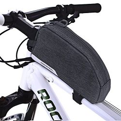 CestMall Bike Bag, MTB Bicycle Top Tube Bag, 1L Capacity Waterproof Cycling Front Frame Pannier  ...