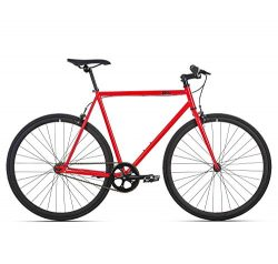 6KU Cayenne Fixed Gear Bicycle, Red/Black, 42cm