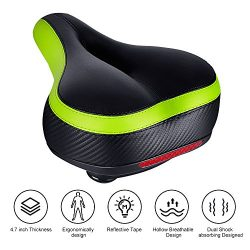 Tonbux Most Comfortable Bicycle Seat, Bike Seat Replacement with Dual Shock Absorbing Ball Wide  ...