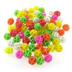 Round Colorful Bike Bicycle Wheel Spoke Beads Luminous Plastic Clip Spoke Bead Bicycle Beads Wir ...