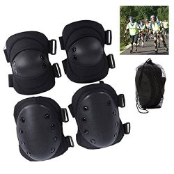 Safety Gear 2+2 pcs Sport Guard Outdoor Activities Knee Elbow Pads Protective Equipment Tactical ...