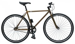Chill Bikes Single-Speed Commuter Fixie Bike, 53cm/Large, Brown/Black