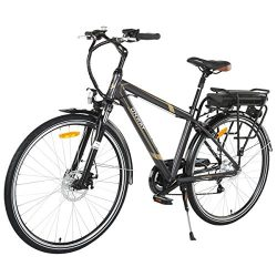 Onway 6 Speed 700C Man City Electric Bicycle, 6061 Aluminium Alloy Frame, with Removable Lithium ...